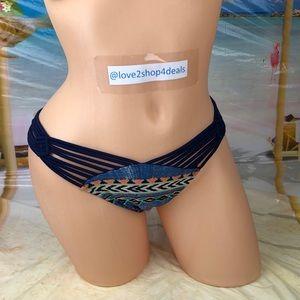 ! Tinibikini strappy Blue bikini swim bottom